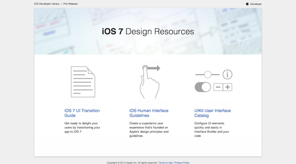 Apple iOS7 Design Resources