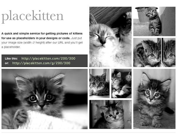 猫のダミー画像が作れるPlacekitten