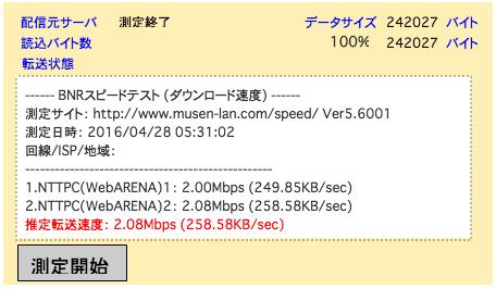 20160428ソフトバンク光0530速度テスト